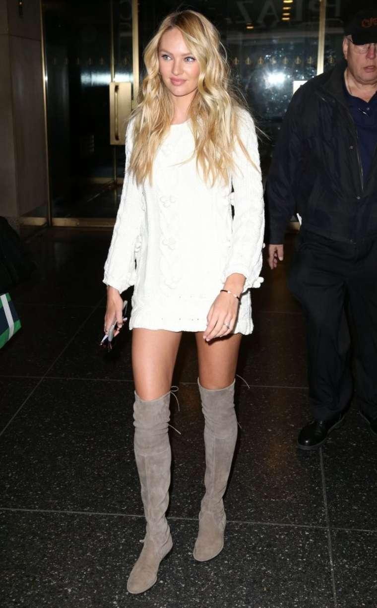 Candice Swanepoel 2015 : Candice Swanepoel in Short Dress -09