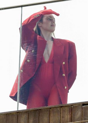 Candice Swanepoel - Vogue Magazine Shoot at the Fasano Hotel pool in Rio de Janeiro