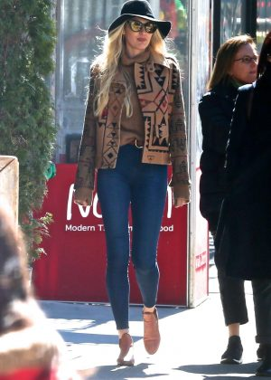 Candice Swanepoel - Walking in the East Village in NYC