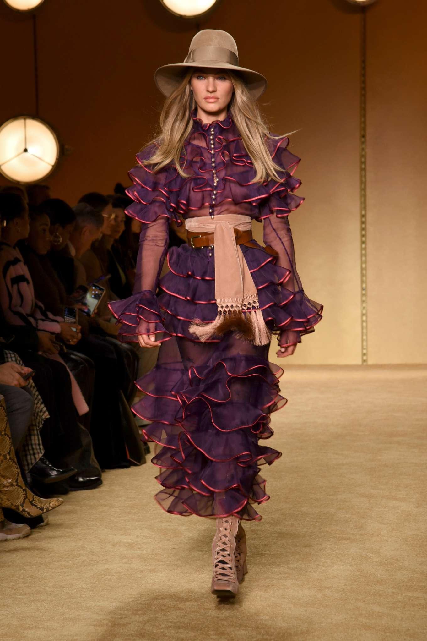 Candice Swanepoel - Zimmermann Runway Show 2020 at New York Fashion Week