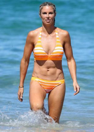 Candice Warner in Bikini on the beach in Coogee