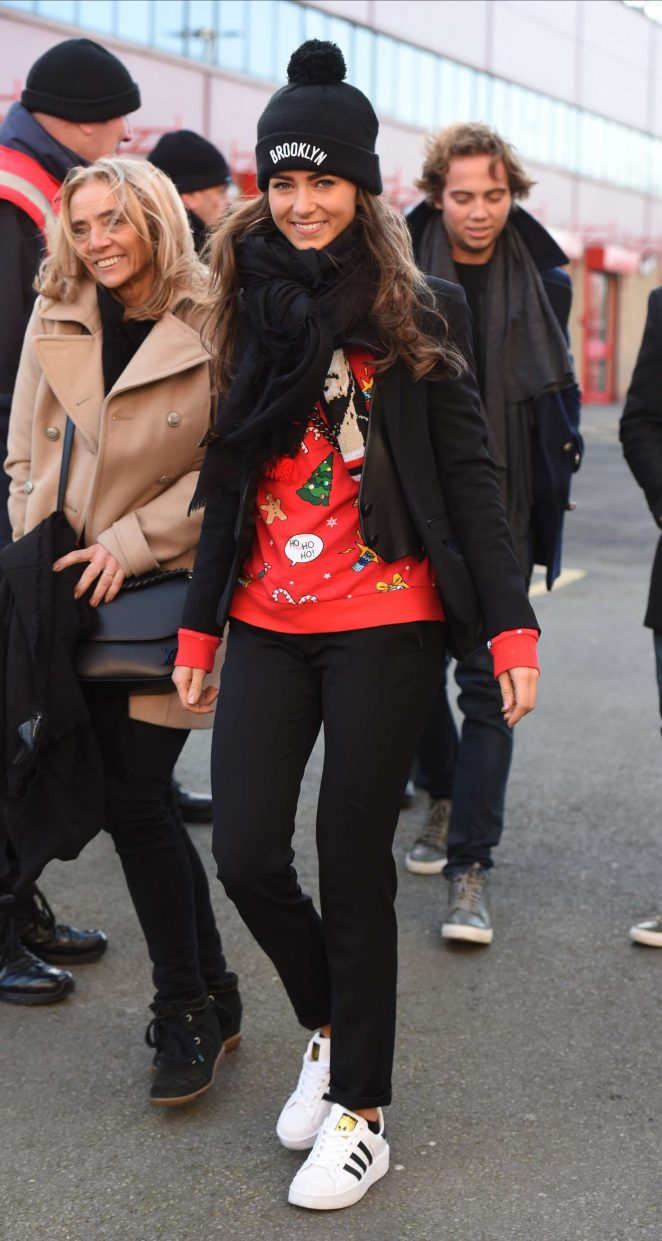 Candy-Rae Fleur - Arrives at Manchester United vs Sunderland Premier League at Old Trafford