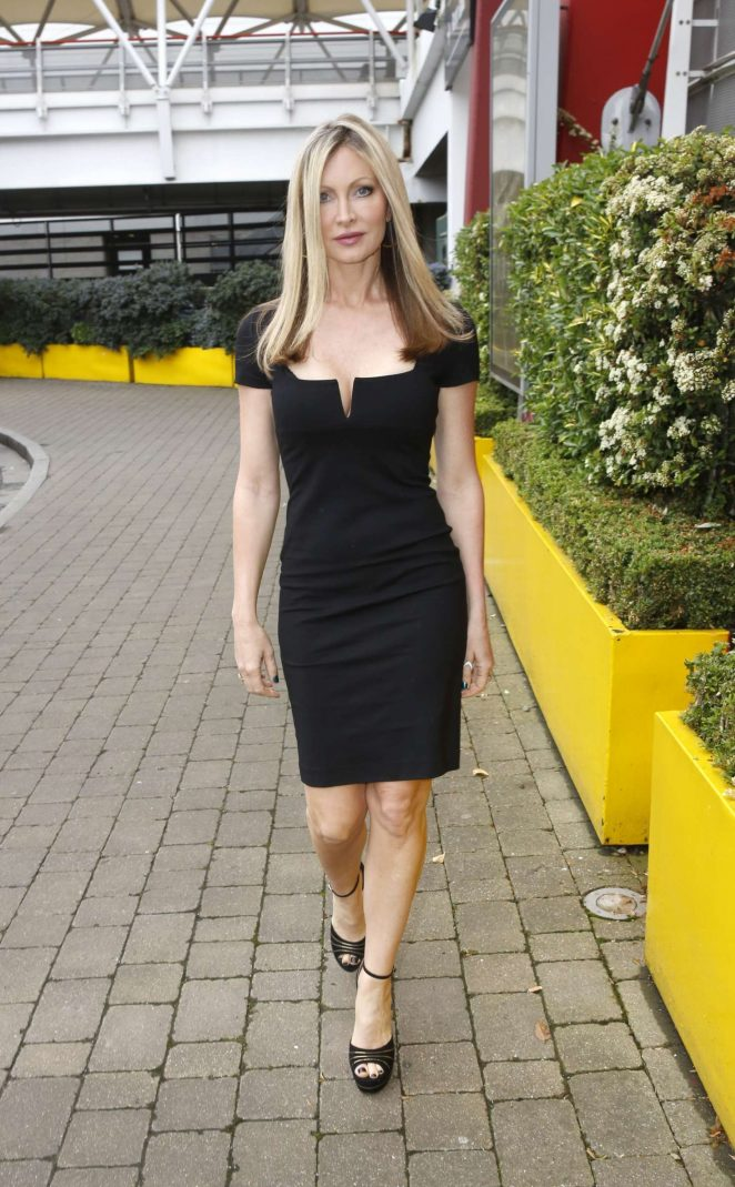 Caprice Bourret Arrives at Excel Business show in London