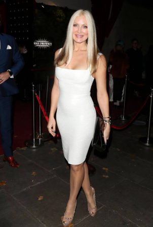 Caprice Bourret - In tight white dress at Proud Embankment in London