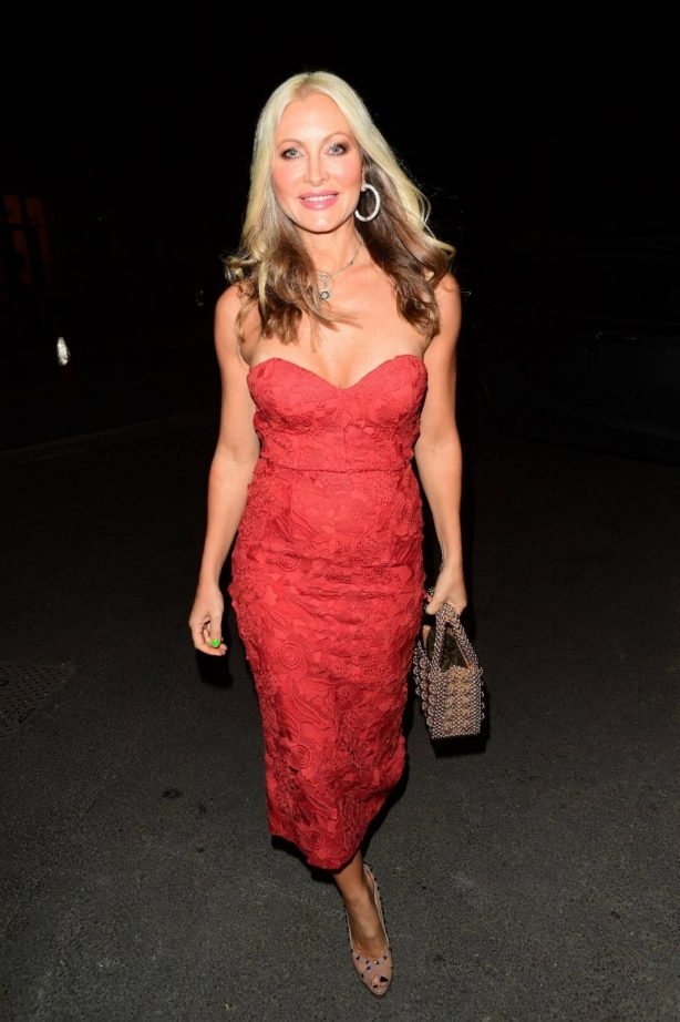 Caprice Bourret - Look stunning in red dress at Mecca Bingo Live in London