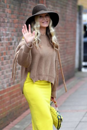 Caprice Bourret - Seen while out of Goowoo Media offices in London