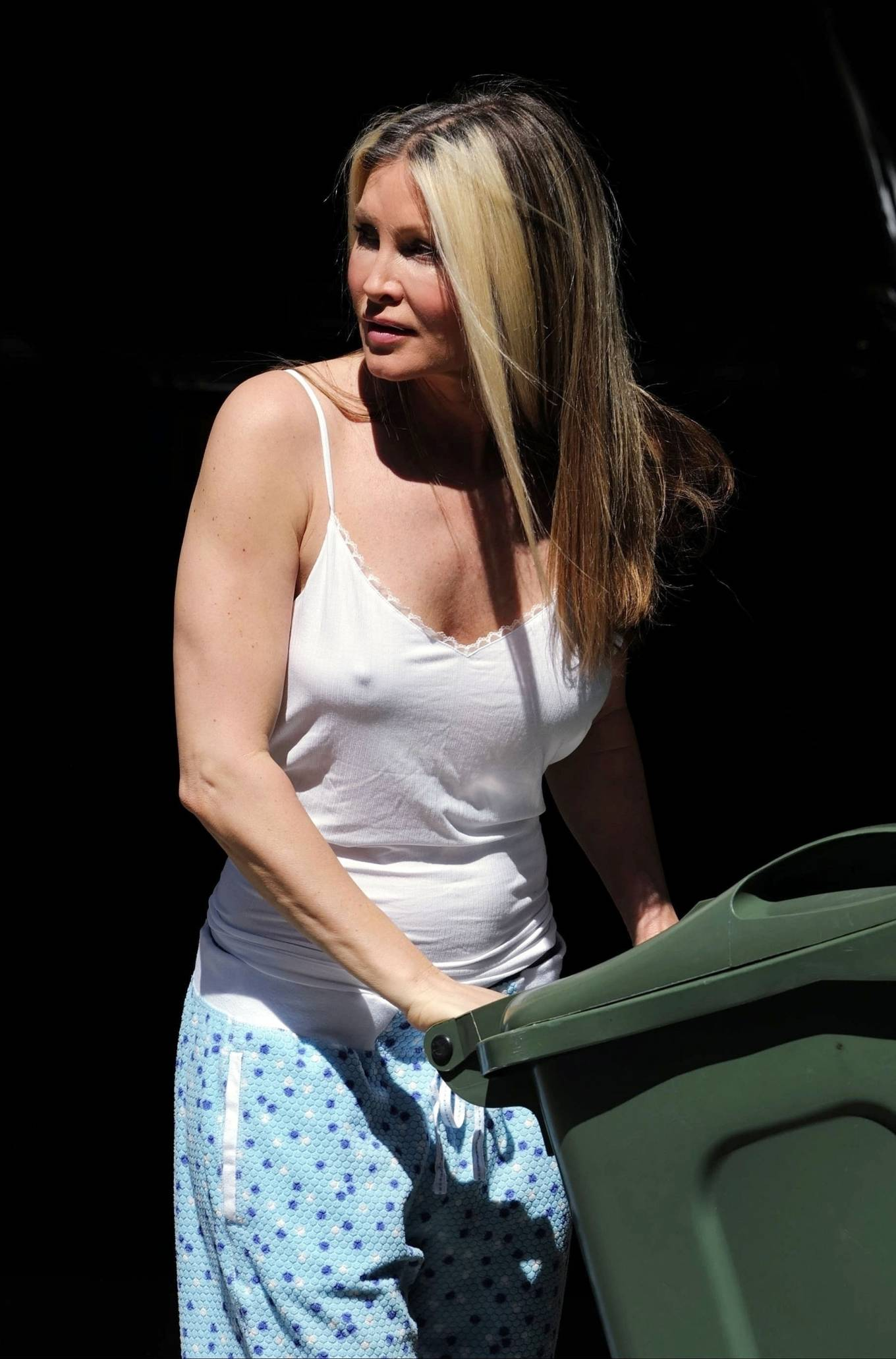 Caprice Bourret - Taking the bins out in London