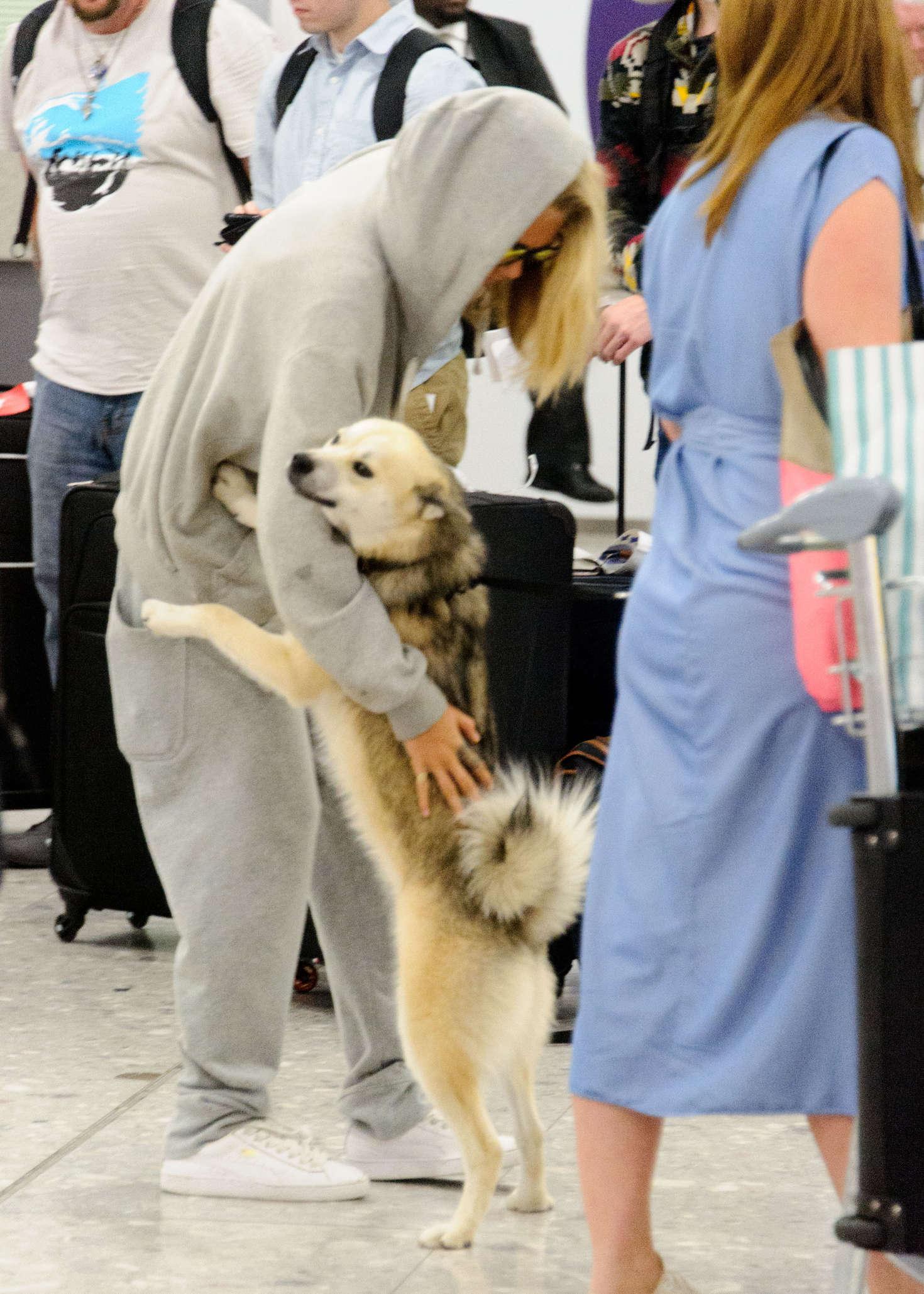 Cara Delevingne 2016 : Cara and Poppy Delevingne Arrive at Heathrow Airport -02