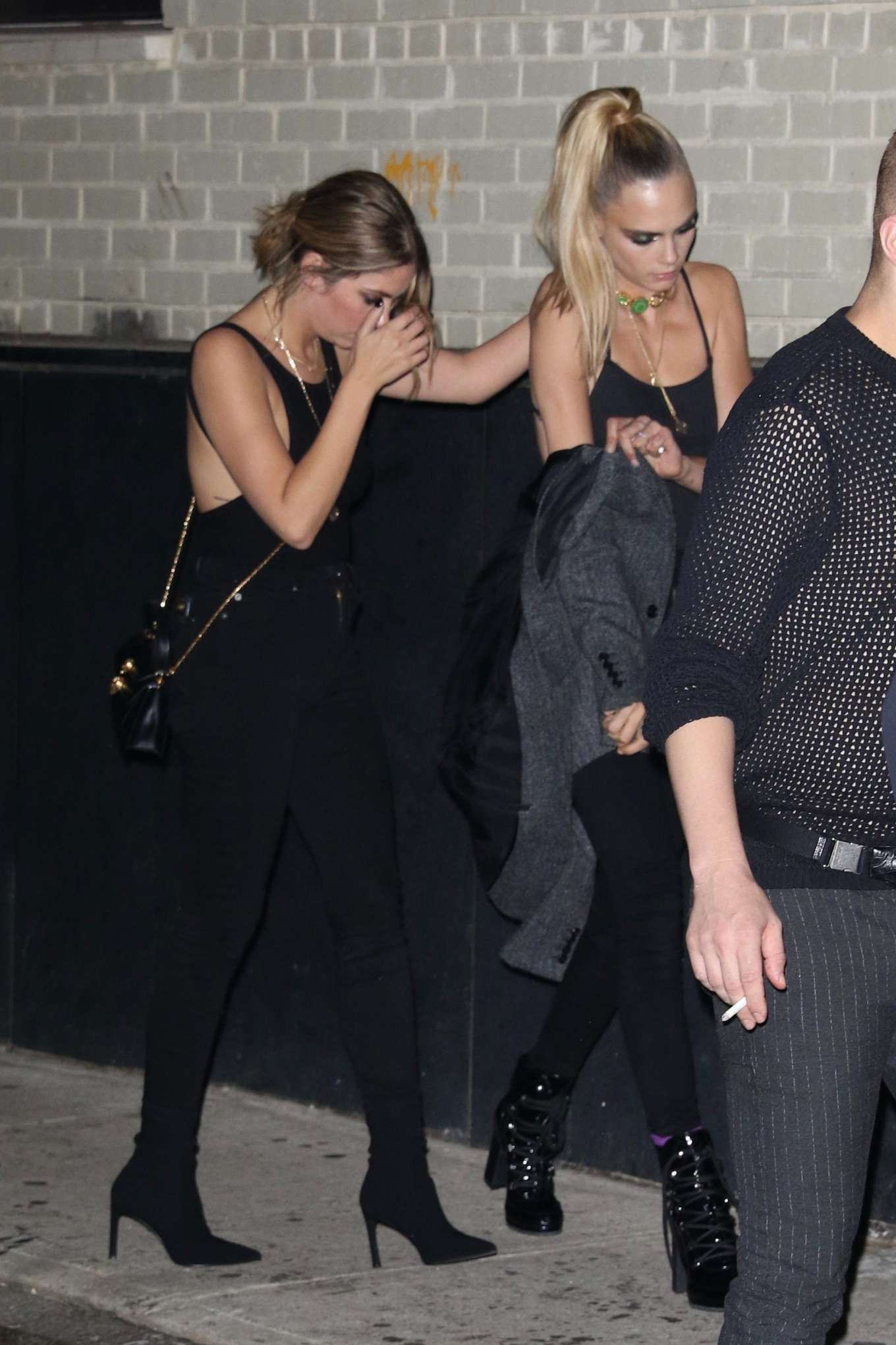 Cara Delevingne and Ashley Benson - Arriving to Rihanna's Fenty Afterparty in NY
