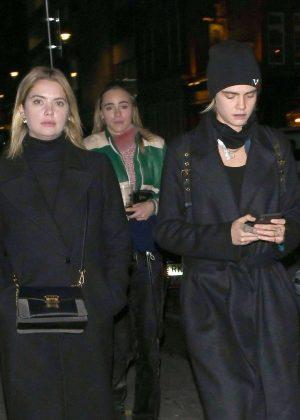 Cara Delevingne and Ashley Benson at the Mandrake Hotel in London