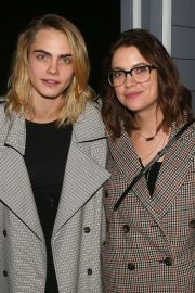 Cara Delevingne and Ashley Benson - Backstage at the musical 'Jagged Little Pill' in NY