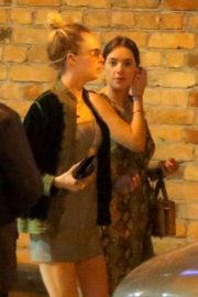 Cara Delevingne and Ashley Benson - Have dinner at Gero in Rio de Janeiro