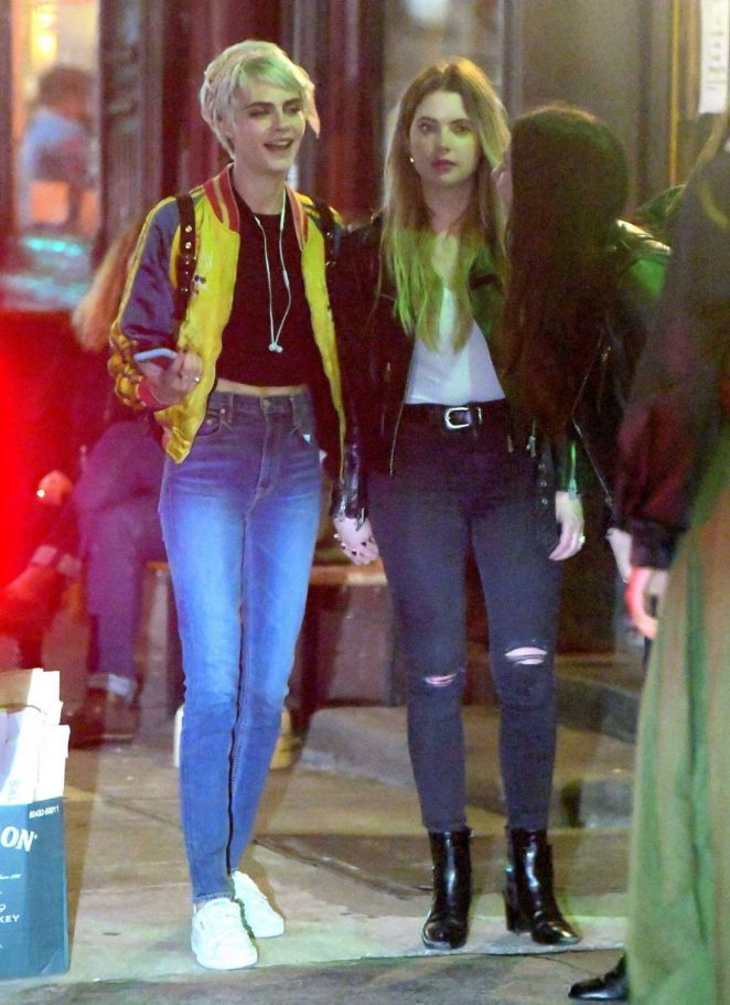 Cara Delevingne and Ashley Benson - Leaves Lucky Strike in New York