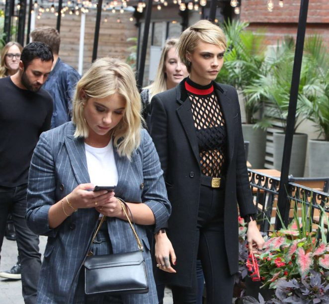 Cara Delevingne and Ashley Benson – Leaving a restaurant in Toronto