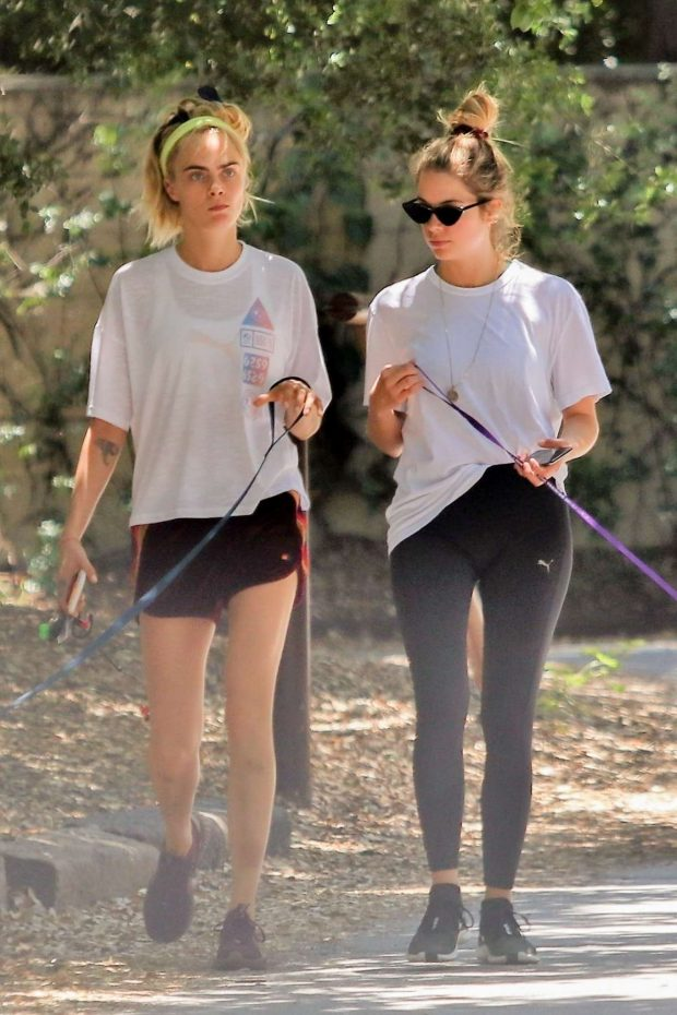 Cara Delevingne and Ashley Benson - Out for a walk in Studio City