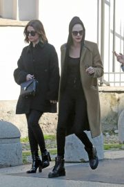 Cara Delevingne and Ashley Benson - Seen together in Milan