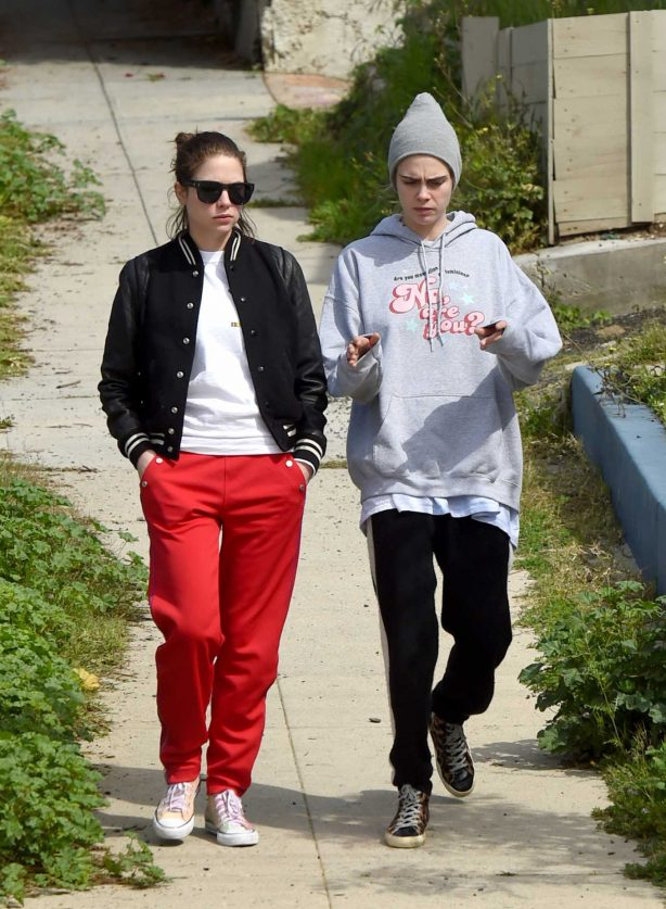 Cara Delevingne and Ashley Benson - Spotted while out for a walk in LA