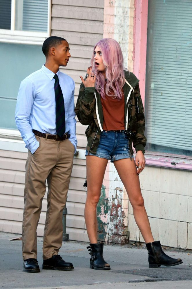 Cara Delevingne and Jaden Smith on 'Life in A Year' set in Toronto