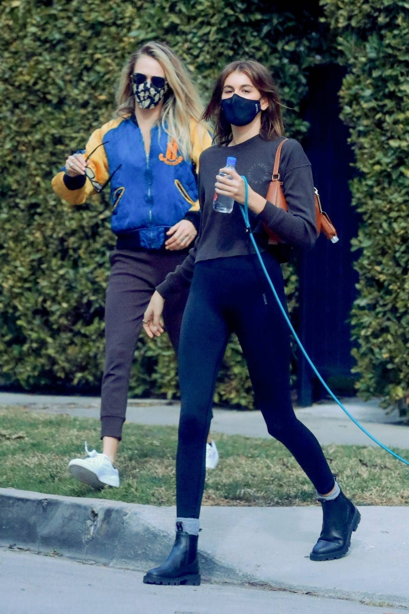 Cara Delevingne and Kaia Gerber - Seen after their pilates class in Los Angeles
