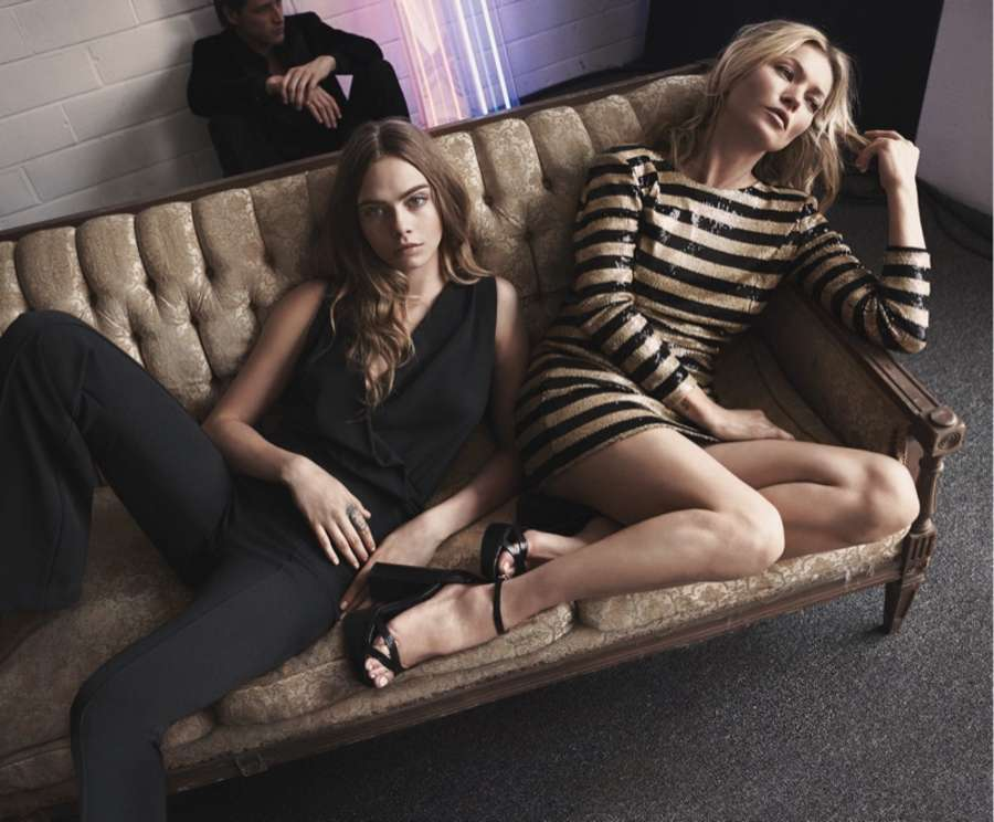 Cara Delevingne and Kate Moss - Mango Evening Holiday 2015 Collection