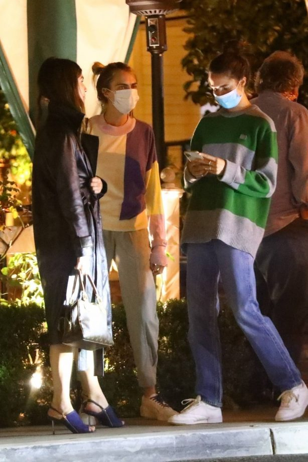 Cara Delevingne and Margaret Qualley - Spotted on a cozy dinner in Los Angeles