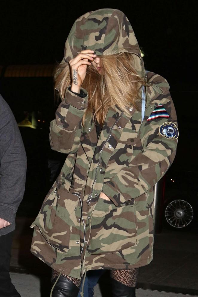 Cara Delevingne Arrives at JFK Airport in NYC