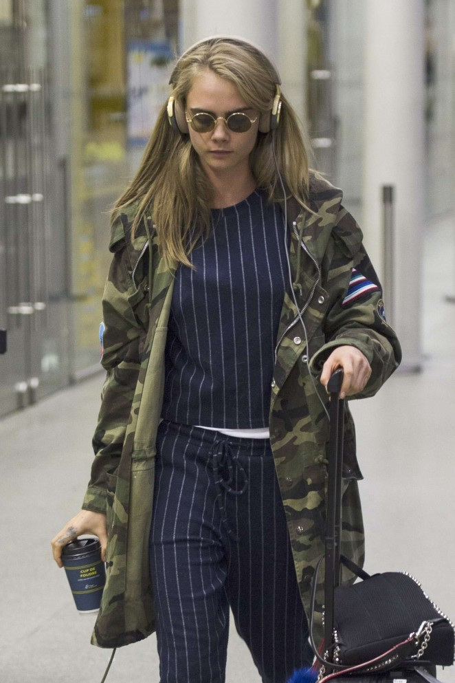 Cara Delevingne - Arrives at The Eurostar Terminal in London