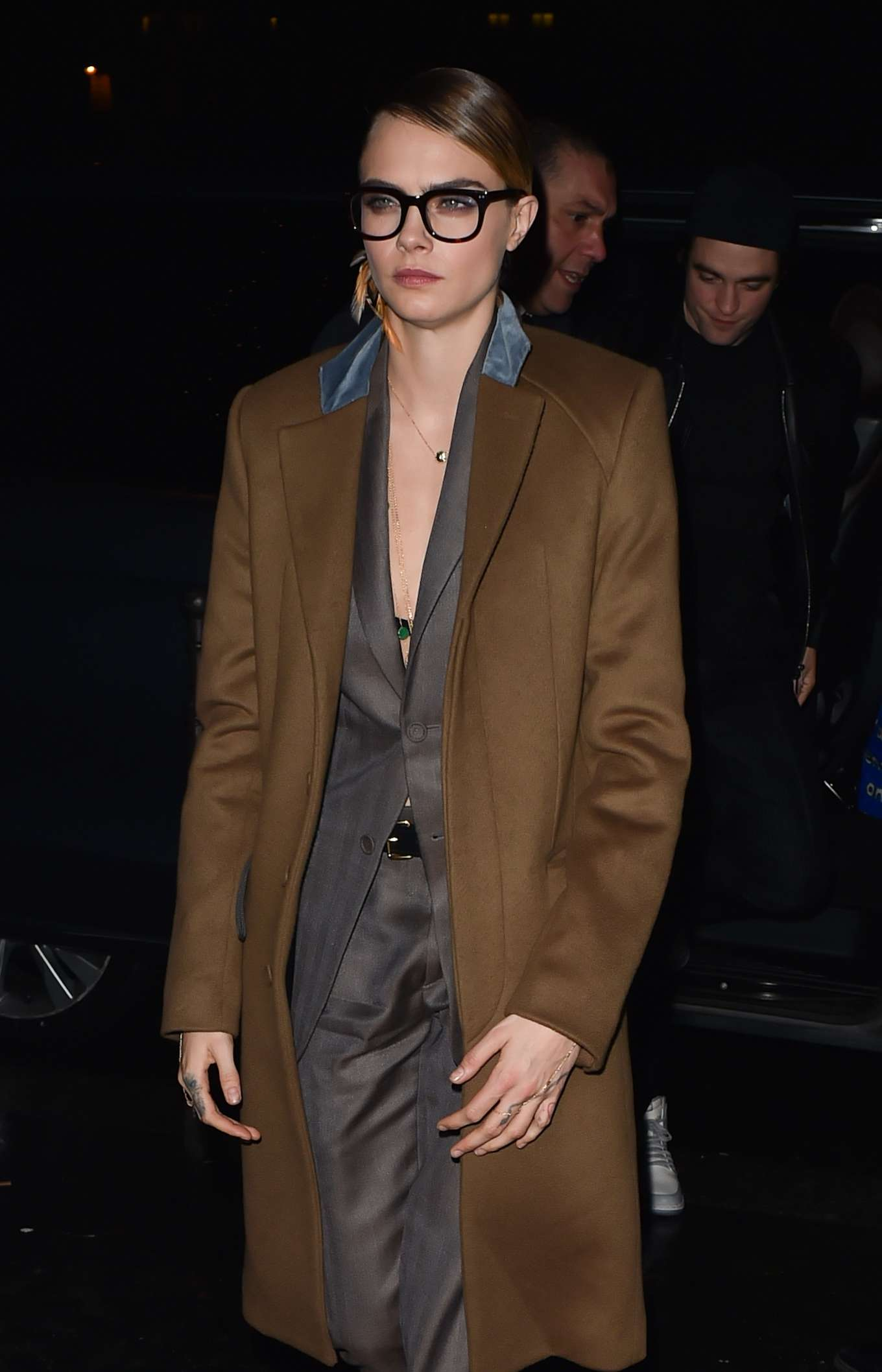 Cara Delevingne - Arriving at Cavier Kaspier Restaurant in Paris
