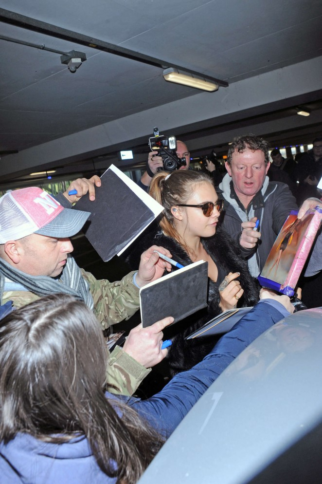 Cara Delevingne at Heathrow Airport -11