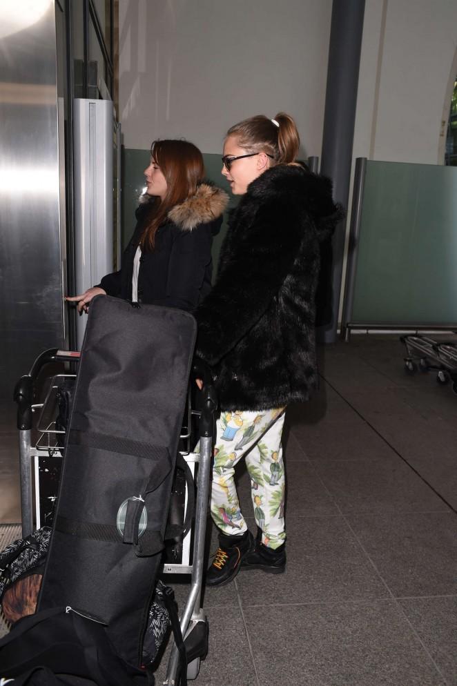 Cara Delevingne at Heathrow Airport -18