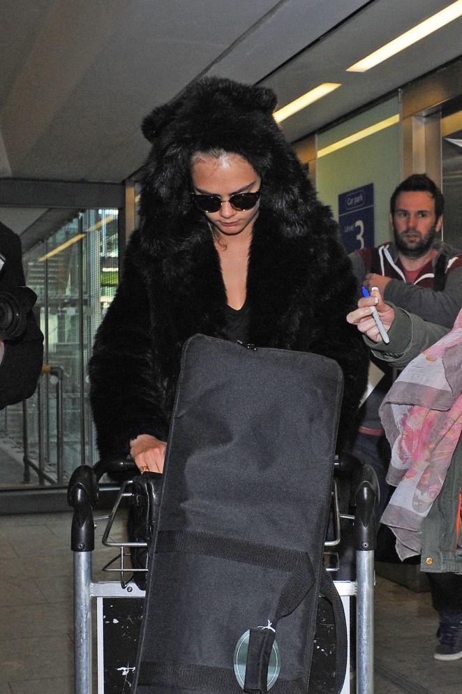 Cara Delevingne at Heathrow Airport -54