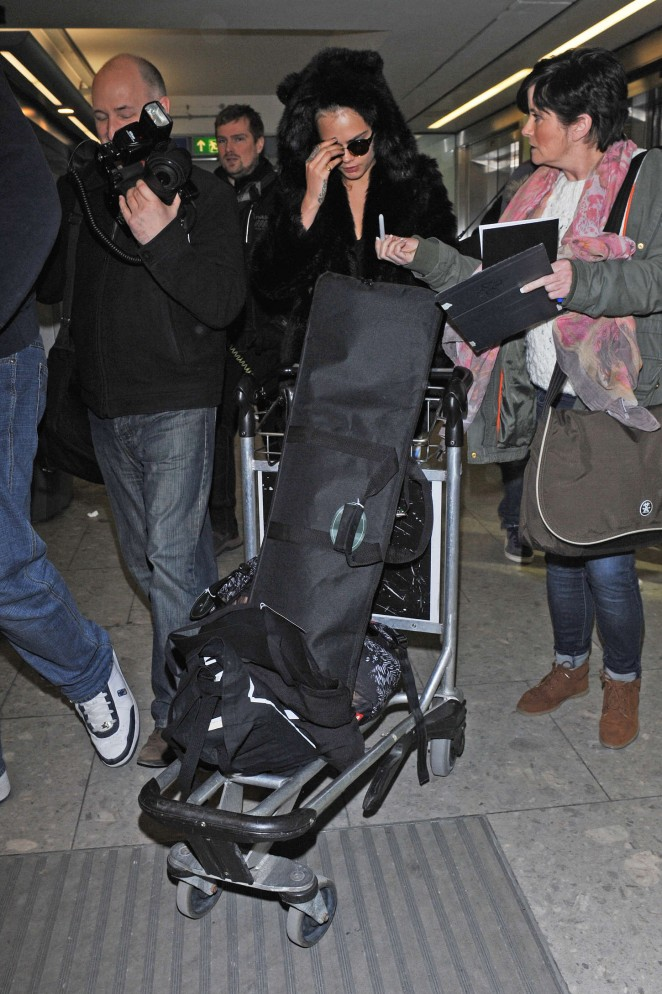Cara Delevingne at Heathrow Airport -55