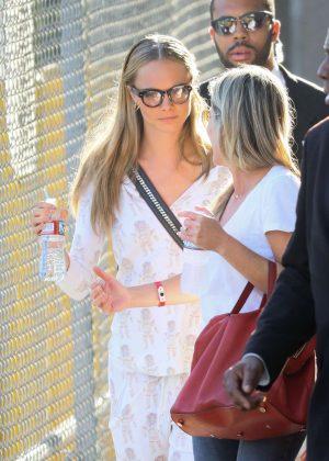 Cara Delevingne - Arriving at Jimmy Kimmel Live in Los Angeles