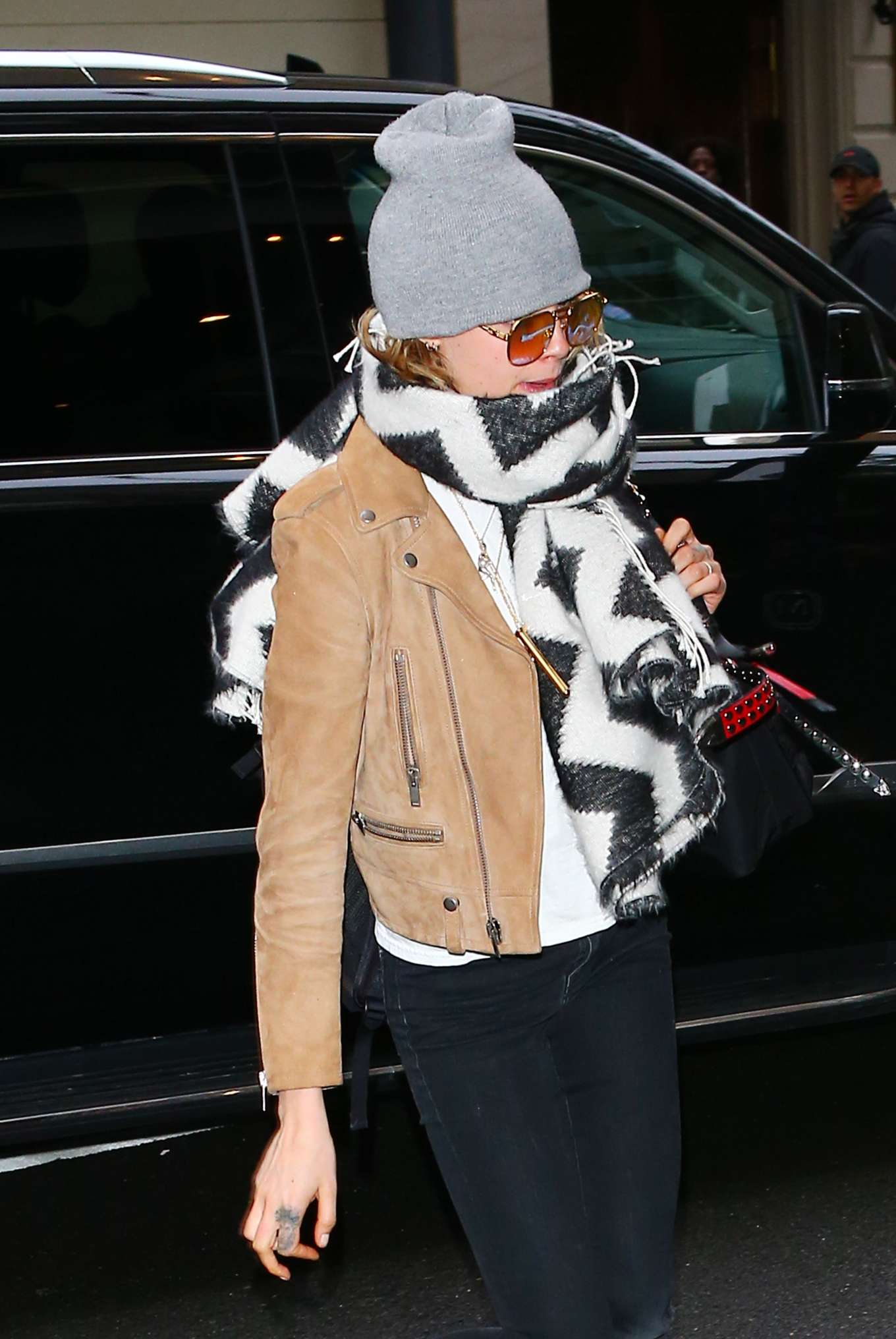Cara Delevingne - Arriving at The Mark Hotel in NYC