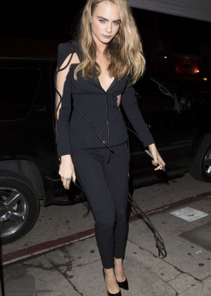 Cara Delevingne - Arriving at the Nice Guy in Los Angeles