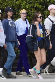 Cara Delevingne, Ashley Benson and Kaia Gerber - Out in Los Angeles