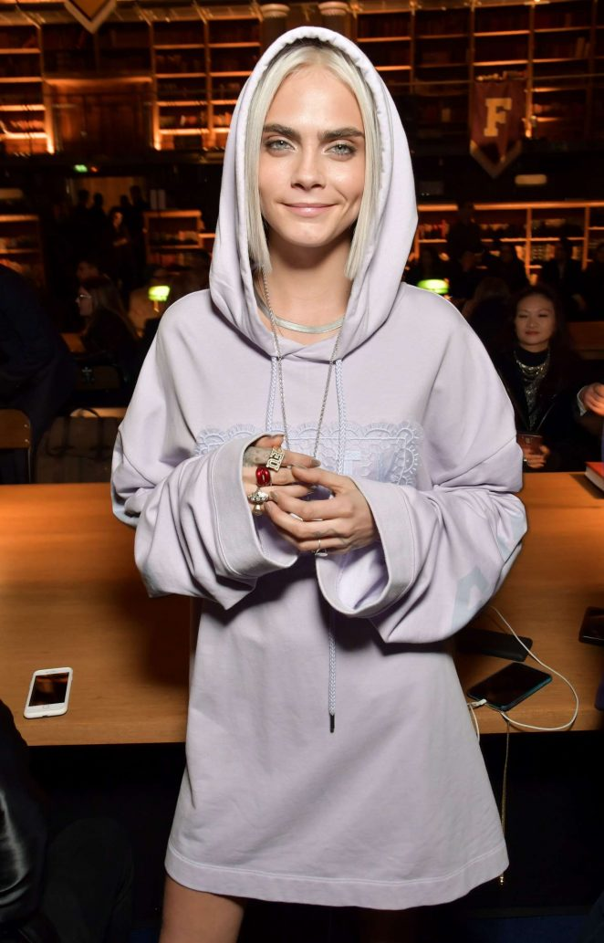 Cara Delevingne at Fenty Puma by Rihanna Show 2017 in Paris