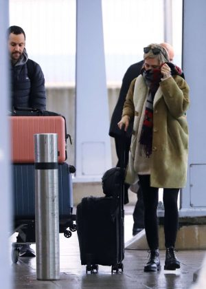 Cara Delevingne at Heathrow Airport in London