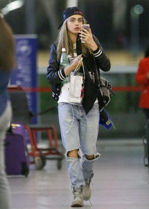 Cara Delevingne at JFK Airport in New York City