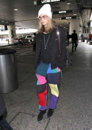 Cara Delevingne at LAX Airport in Los Angeles