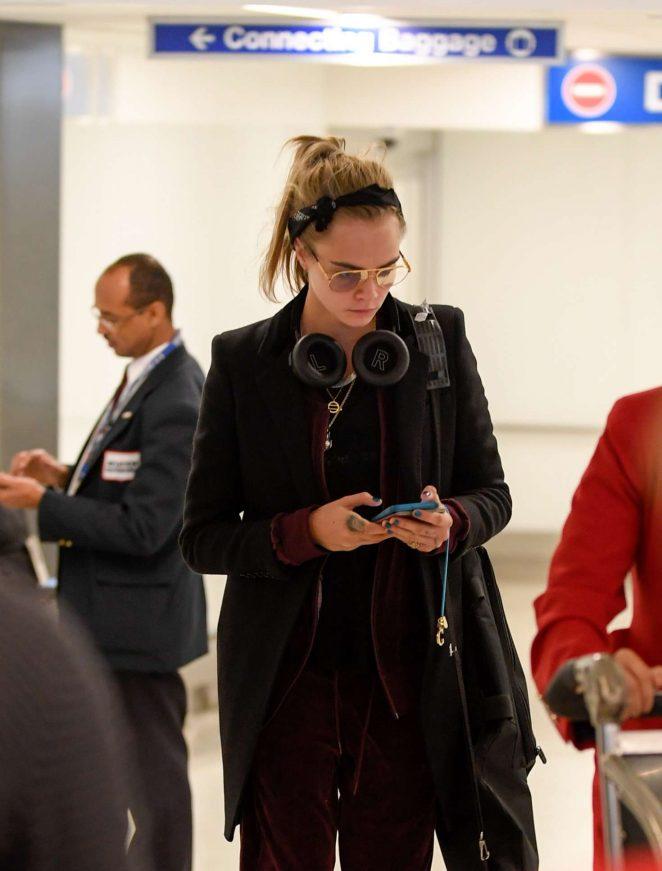 Cara Delevingne at Los Angeles International Airport
