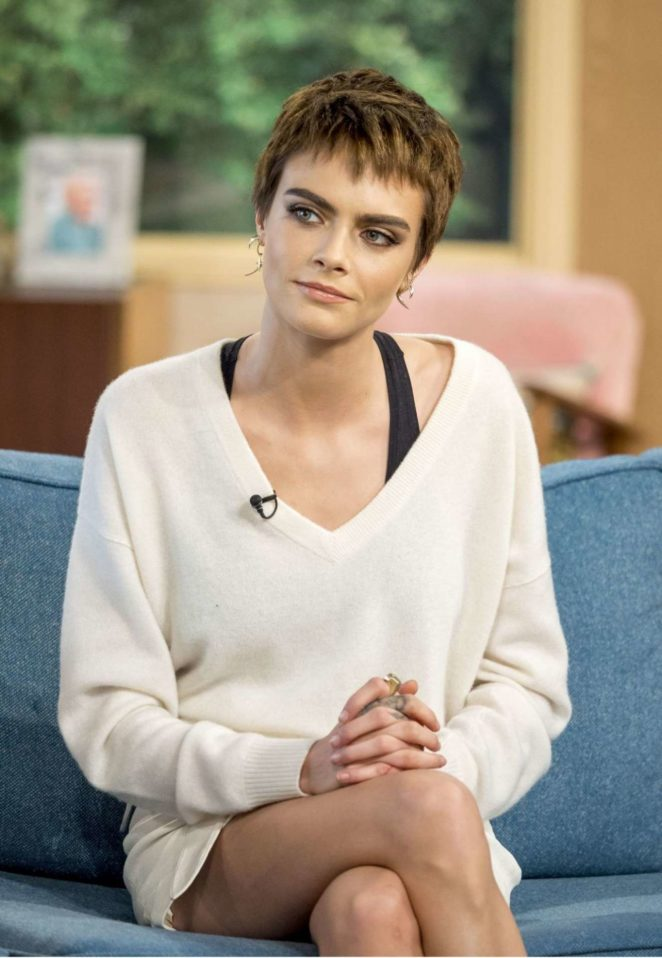 Cara Delevingne at 'This Morning' TV show in London