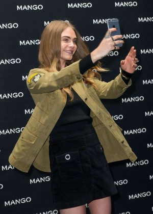 Cara Delevingne - Attends Mango Boutique Opening in Milan