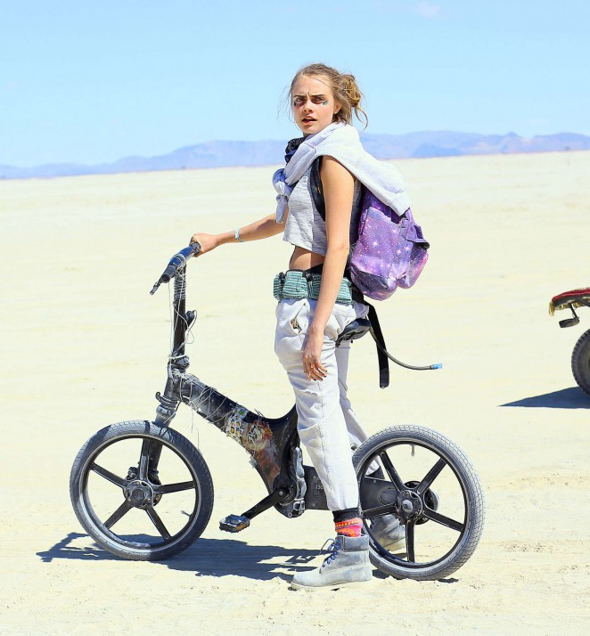 Cara Delevingne - Burning Man Festival in Black Rock City