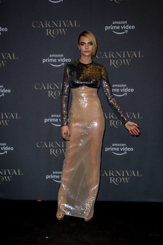 Cara Delevingne - 'Carnival Row' premiere at the Astor Movie Odeon in Berlin