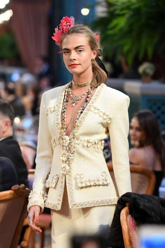 Cara Delevingne - Chanel Fashion Show in Paris