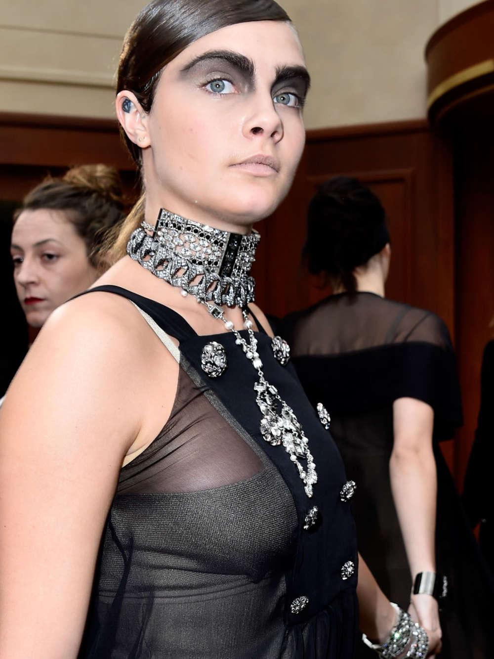 Cara Delevingne Chanel Fashion Week In Paris Gotceleb