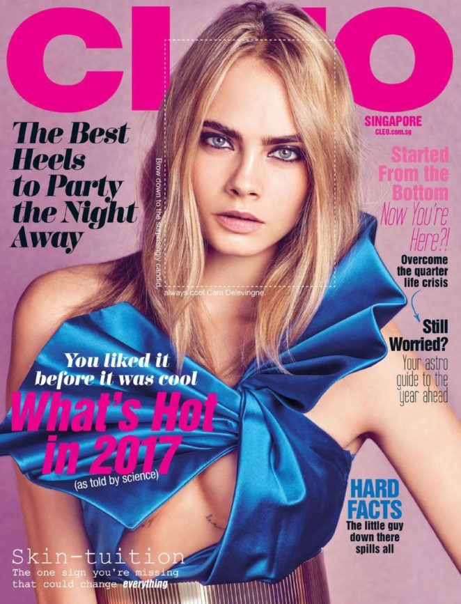 Cara Delevingne - Cleo Singapore Magazine (January 2017)
