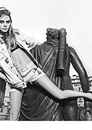Cara Delevingne - Denim Style in Pepe Jeans Spring 2015