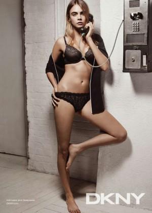 Cara Delevingne - DKNY Intimates Campaign 2015